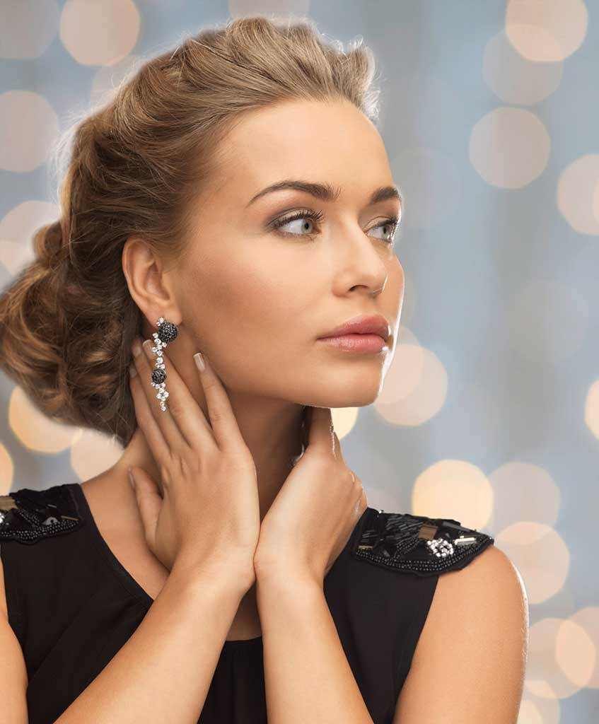 Woman with beautiful neck and chin