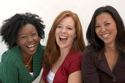 Three Smiling happy women
