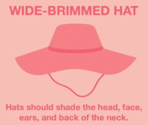 Wear a wide-brimmed hat in the sun