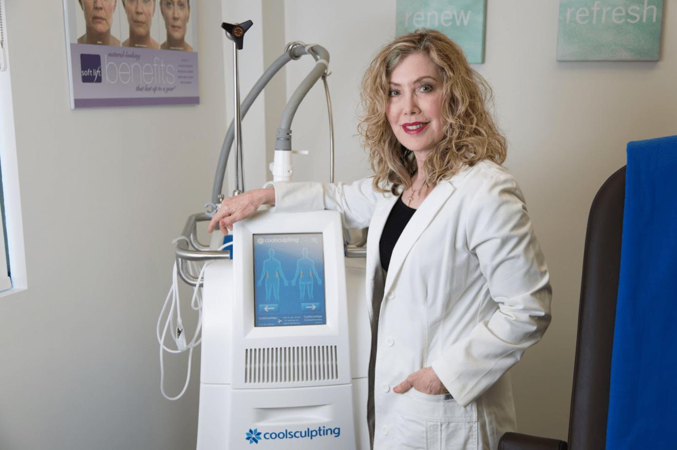 Dr. Karen with Coolsculpting Machine