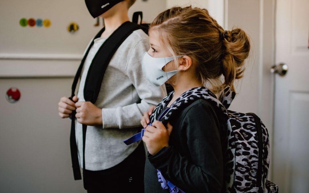 students wearing masks at school